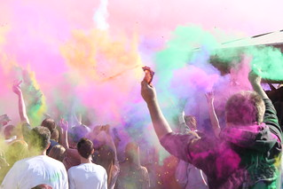 Holi Festival of Colors, Utah 2010 - Chalk Explosion