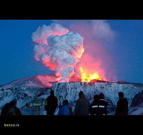 Eruption in Eyjafjallajökull, Iceland