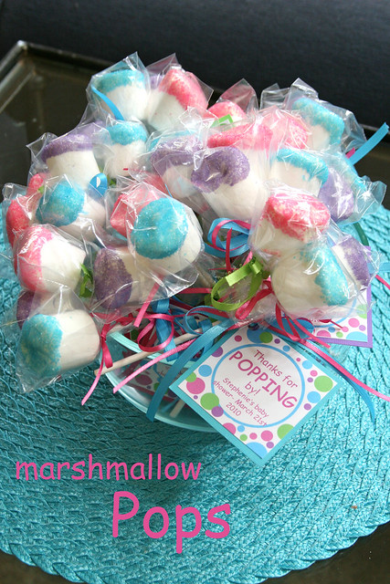 marshmallow pops marshmallow pops as favors for a baby sho