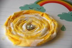 Shabby yellow flower embellishment