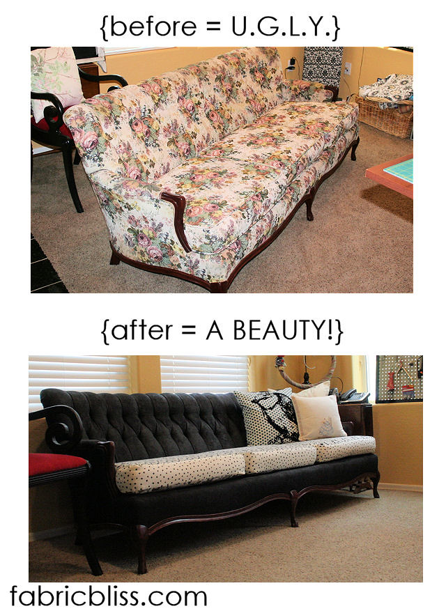 I love me some fabric.: {do this!} I painted a couch last week {or} NO REALLY! I PAINTED A COUCH!