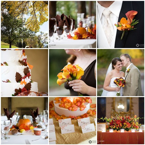 Fall wedding inspiration board traditional fall colors for Wedding themes for september
