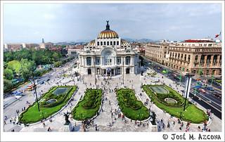 Mexico DF. Palacio de las Bellas Artes.