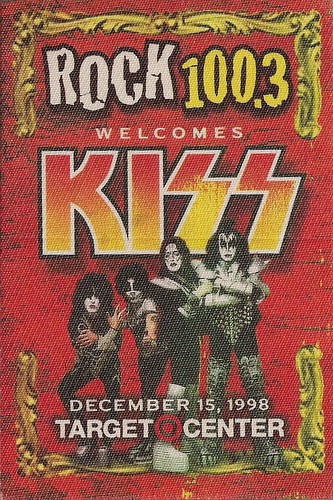 12/15/98 Kiss/Econoline Crush @ Minneapolis, MN (Rock 100.3FM Promo Sticker)