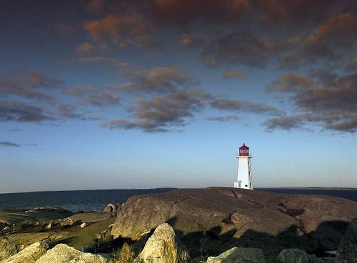 morning travel lighthouse canada color sunrise novascotia shadows jagendorf
