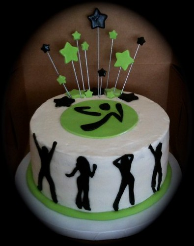 Zumba Cake Photos http://www.flickr.com/photos/cakenbake/4280100486/