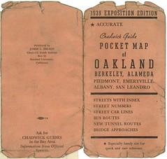 Pocket Map of Oakland, Berkeley, Alameda (1939)