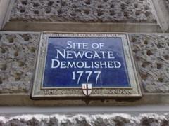 Photo of Newgate blue plaque