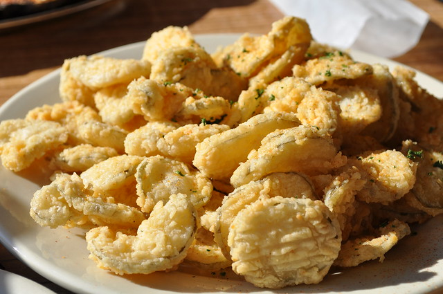 Fried Dill Pickles - served with ranch dressing and remoulade ...