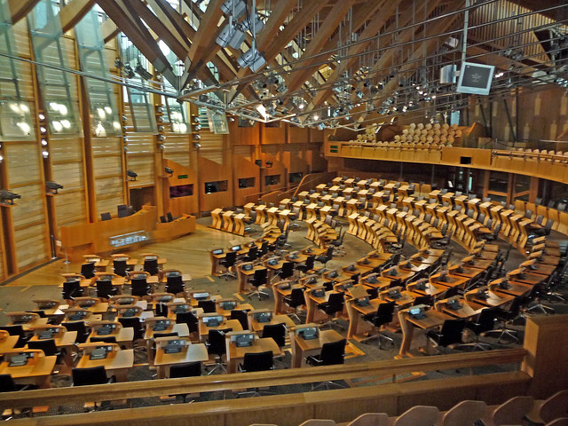 Inside Scottish Parliament, Edinbrgh, Scotland