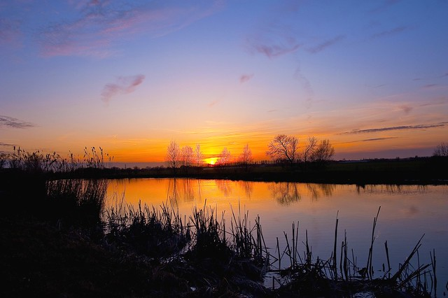 Zonsondergang, Sunset, Zoetermeer Noord AA The Netherlands