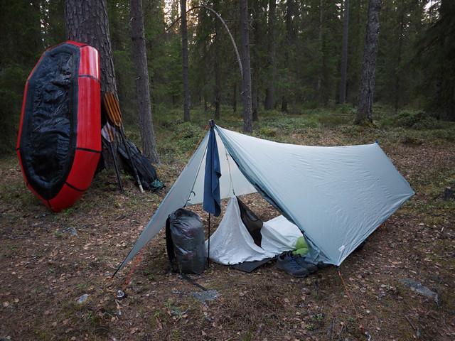 Camp at Otroskoski