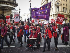 London 2014-Piccadilly,International Women's Day march.