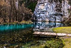 Spring of Krupa river in February