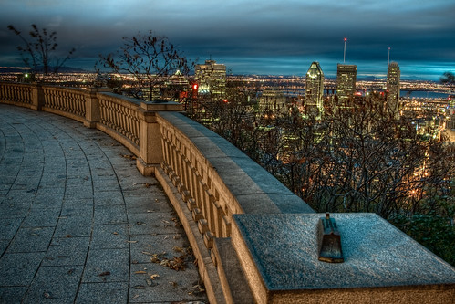 canada skyline sunrise canon observation dawn downtown cityscape quebec montreal royal mount deck canondslr mont hdr lightroom photomatix 50d canonef24105mmf4lisusm canoneos50d seenonflickr