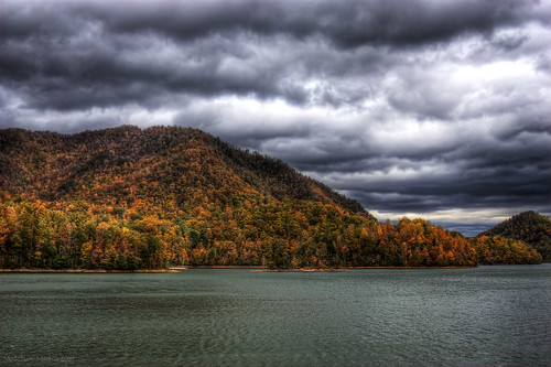 trees mountain lake color fall forrest tennessee east explore national hero winner cherokee watauga thechallengefactory