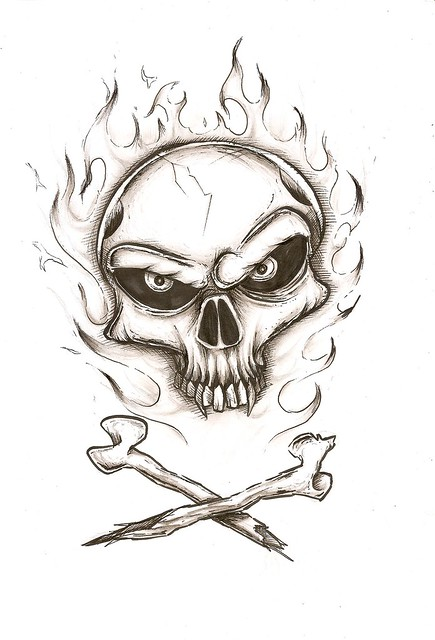 Drawings Of Skulls On Fire | www.imgkid.com - The Image ...