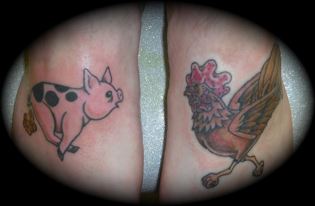 Pig and Rooster Tattoo Meaning http://www.flickr.com/photos/prettygirlsmakegraves/4163969039/
