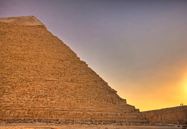 Pyramid of Khafre at Sunset