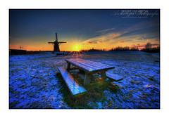 Cold Windmill in the Sun (HDR)