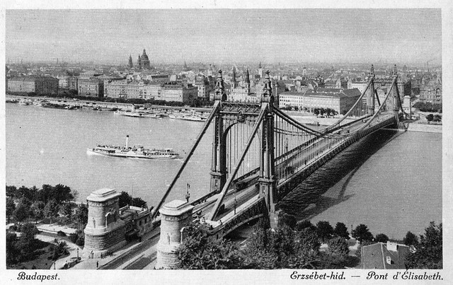 Old postcards of Budapest – Elisabeth Bridge