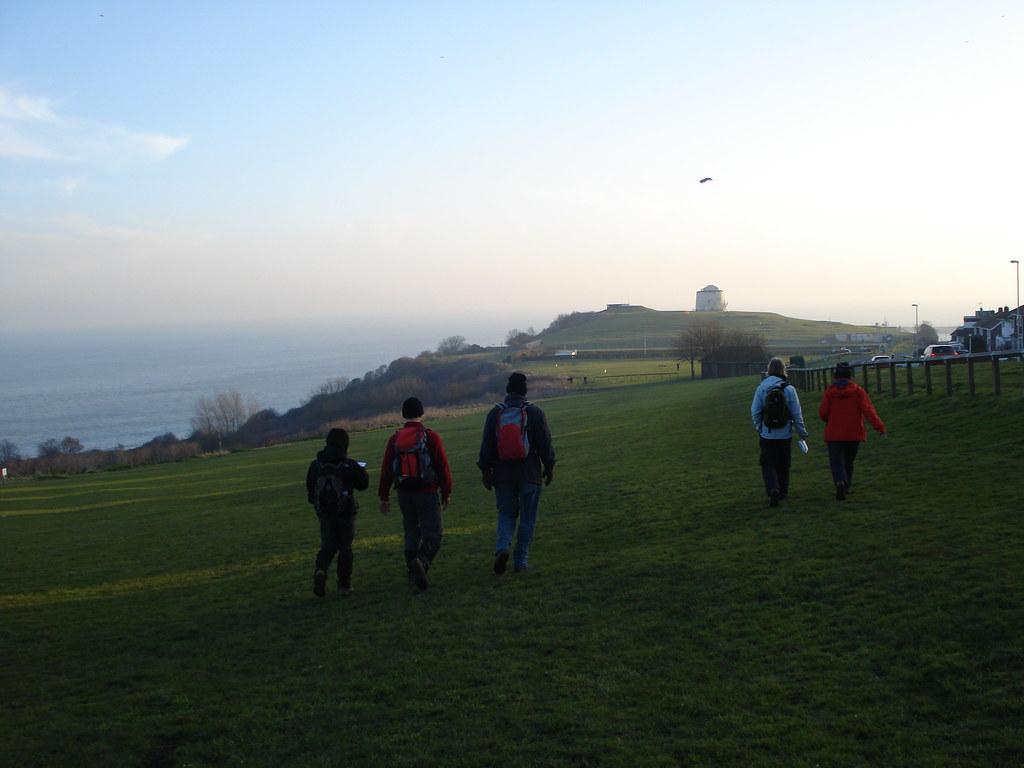 Towards the Martello tower Extra walk 13: Folkestone circular