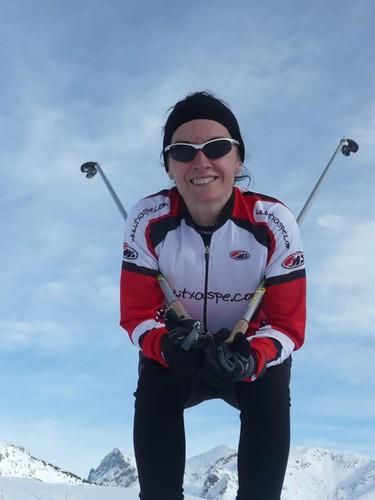 Esquí de fondo en Somport. Complemento a ciclismo