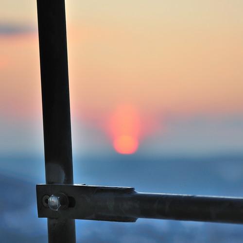light sunset germany miniature dof bokeh handrail ulm screwhead energon eselsberg blautal