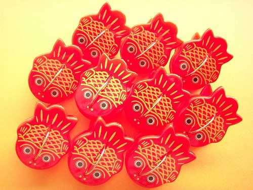 Red Kingyo Goldfish Paperclip Japanese Stationery Novelty