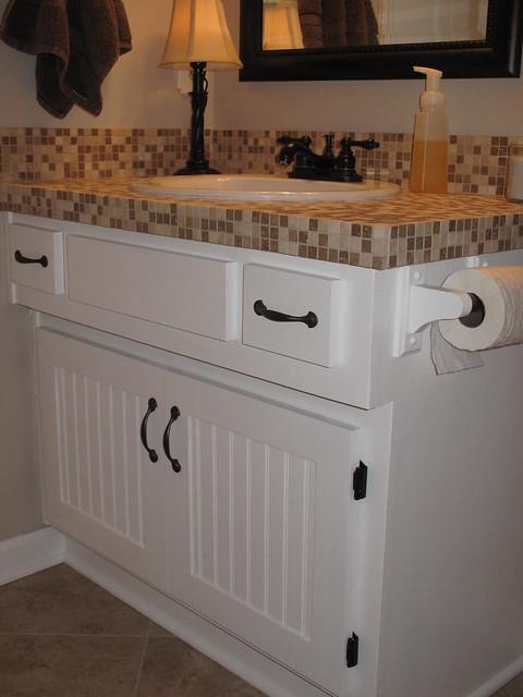 Tiled Bathroom Vanity Tops : Tiled bathroom vanity flickr photo sharing