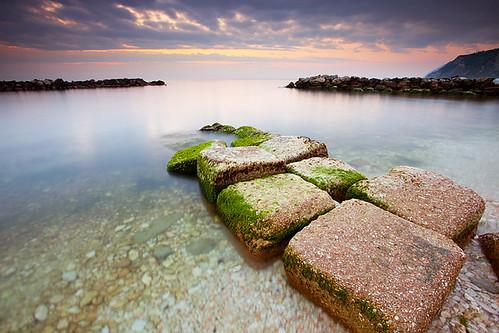 longexposure sea seascape sunrise landscape mare alba stones ancona scogli passetto
