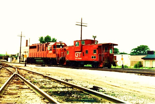 A southbound Grand Trunk Western caboose hop departing the former GTW Elsdon Yard site. Chicago Illinois. June 1984. by Eddie from Chicago