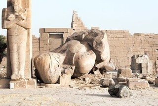 Ramesseum in Egypt.  The Ozymandias Colossus: