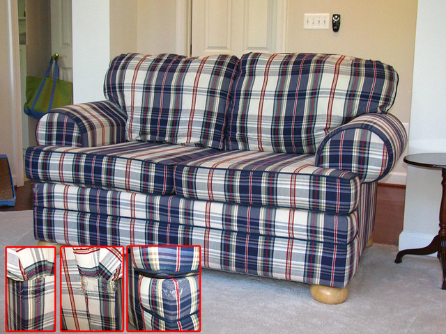 Loveseat Plaid Damage Flickr Photo Sharing