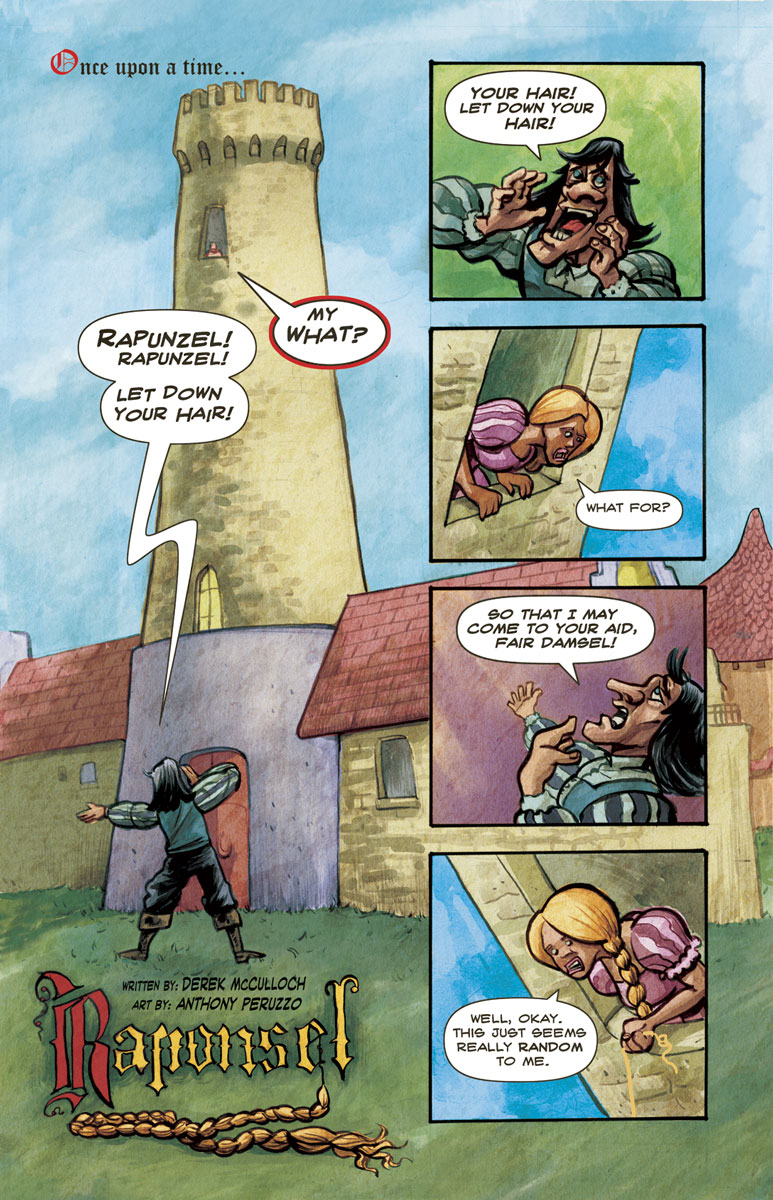 Raponsel page 1 illustrated by Anthony Peruzzo