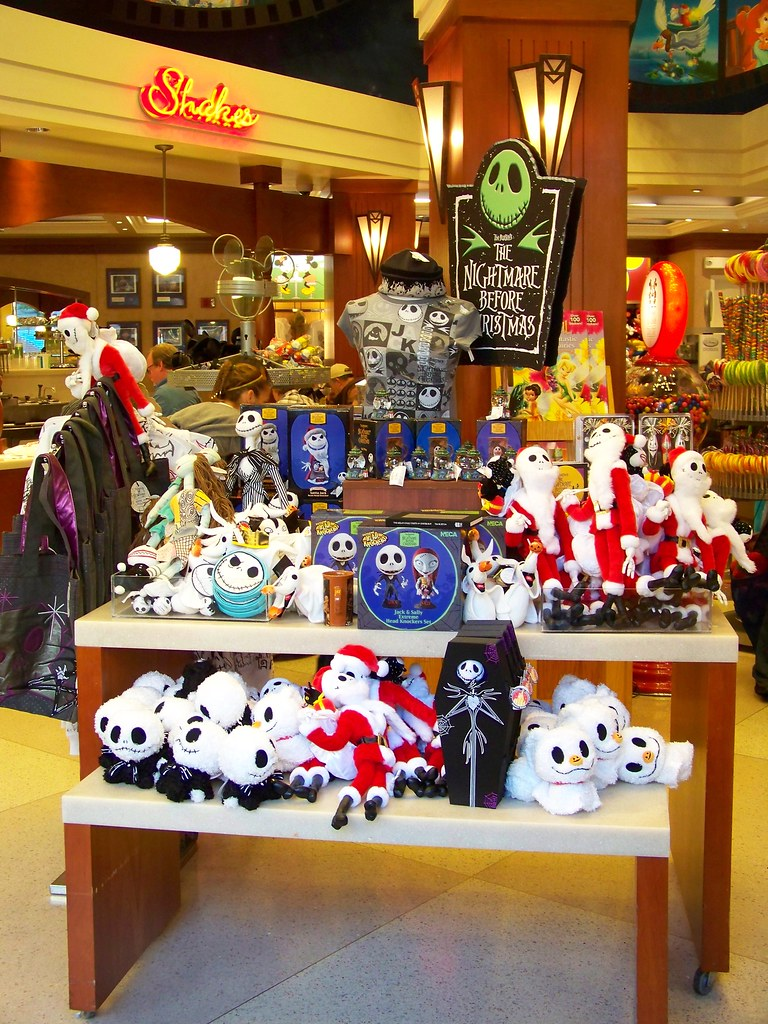 Nightmare Before Christmas merchandise at Disney\'s Soda Fountain ...