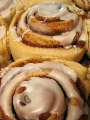 Cinnamon rolls at Honey Wheat B&B