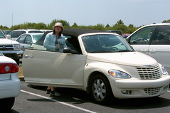 executive car(0.0), automobile(1.0), automotive exterior(1.0), wheel(1.0), vehicle(1.0), automotive design(1.0), minivan(1.0), chrysler pt cruiser(1.0), chrysler(1.0), land vehicle(1.0), luxury vehicle(1.0), convertible(1.0), motor vehicle(1.0),