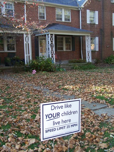 Drive like your children live here, Rodgers Forge, Towson, Baltimore County