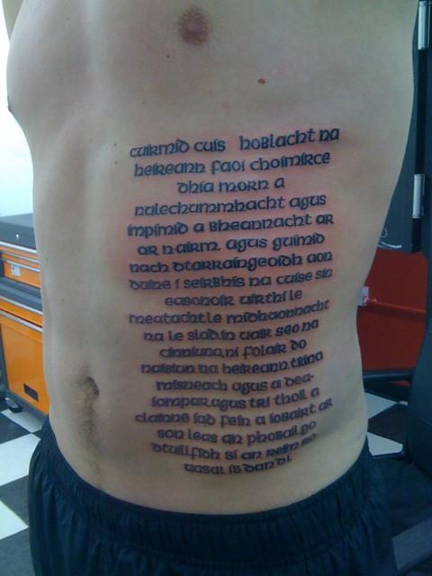celtic writing tattoos