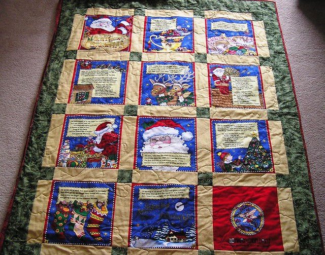 night before christmas quilt - Twas The Night Before Christmas Decorating Ideas