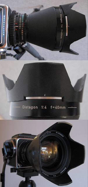 DIY lens hood for the Distagon C 40