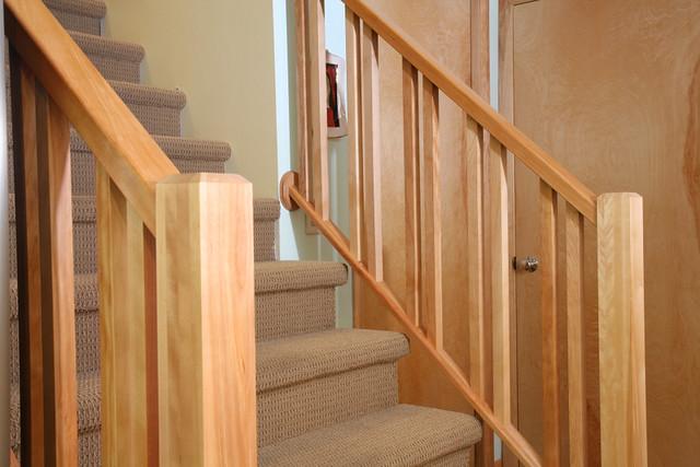 basement birch stair rail i flickr photo sharing