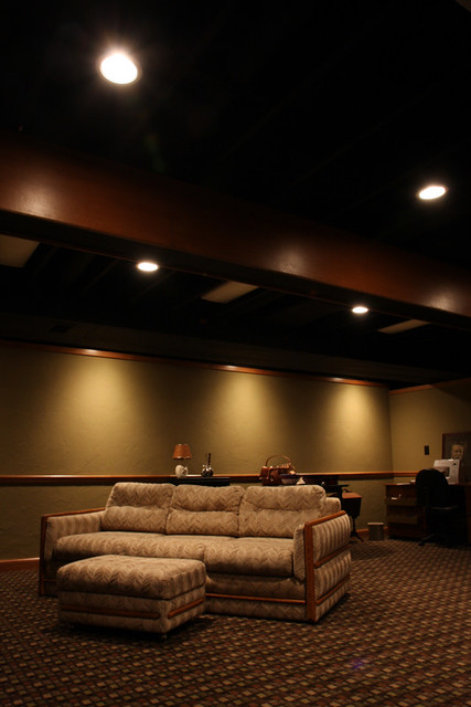 basement with black ceiling ii flickr photo sharing