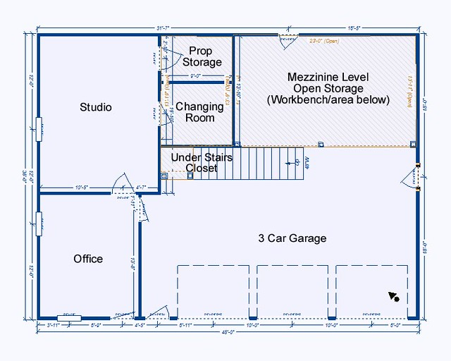 Garage studio floor plan flickr photo sharing Garage with studio plans