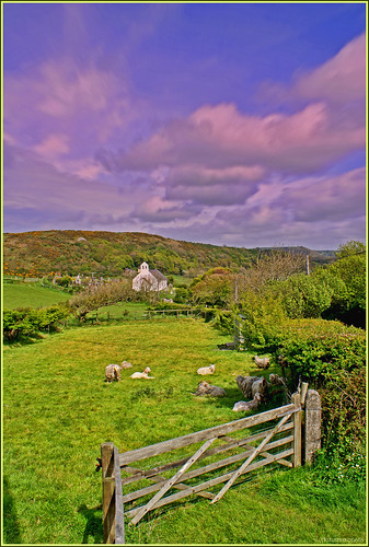 light summer church nature beautiful beauty wales clouds rural landscape scenery gate sheep memories scenic scene fields pastoral picturesque distillery ceredigion hedges penbryn