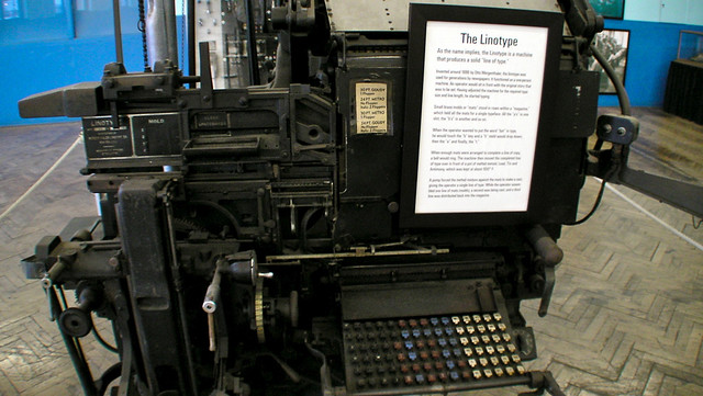 The Linotype. CC BY-NC inju /via flickr
