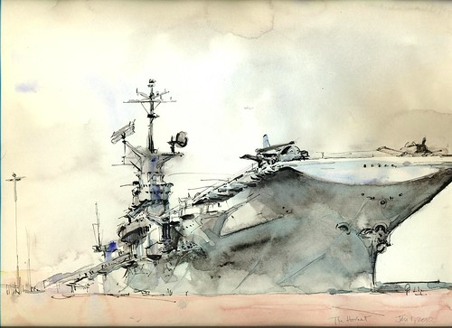 USS Hornet watercolor