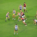 Geelong passing the ball