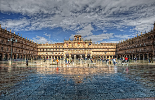Plaza Mayor, Salamanca (Spain), HDR 2